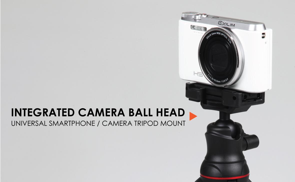 Ztylus Journalist MK II Mini Tripod Smartphone Stabilizer Rig, Hand Grip, Table Tripod, Rotatable Ball Head, Adjustable Leg, for DSLR Mirrorless Camera, Smartphone, Action Camera