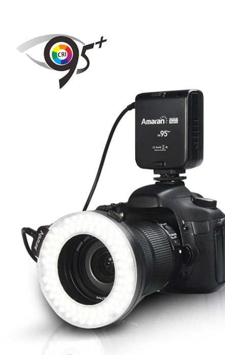 aputure amaran ring flash light